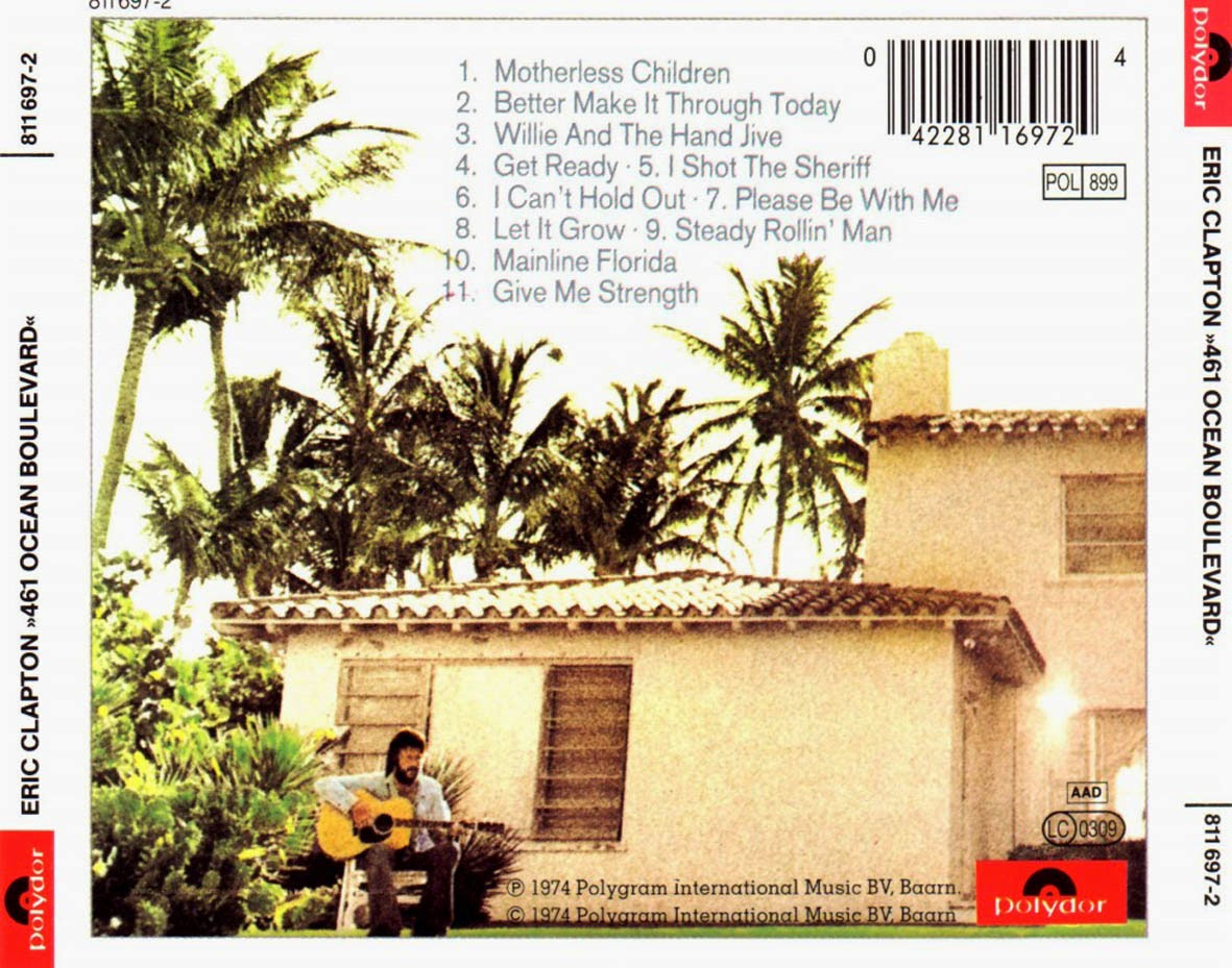 Eric Clapton - 461 Ocean Boulevard (1974) | Exile SH Magazine