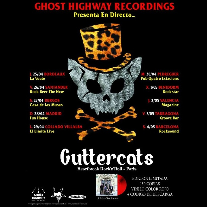 Final gira española Guttercats - Iberian Invasion Tour 2019