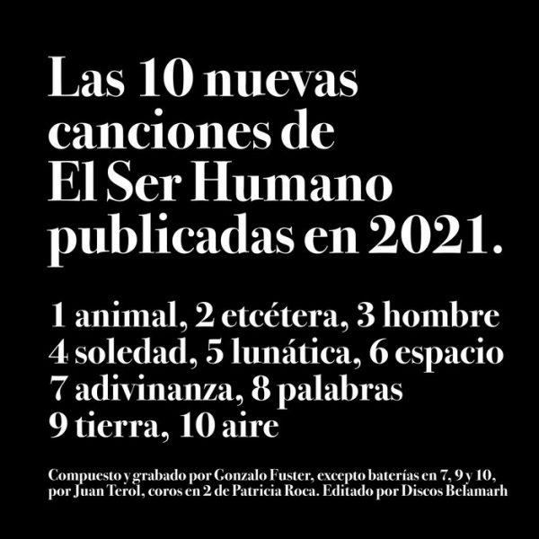 Portada de Las 10 nuevas canciones de El Ser Humano publicadas este 2021