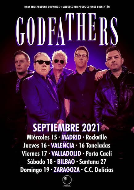 The Godfathers y su gira española de septiembre.