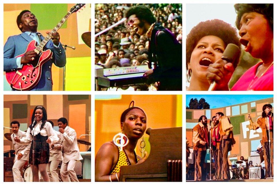 B.B.King, Sly and the Family Stone, Mavis Staples, Mahalia Jackson, Gladys Knight and the Pips, Nina Simone, The 5th Dimension