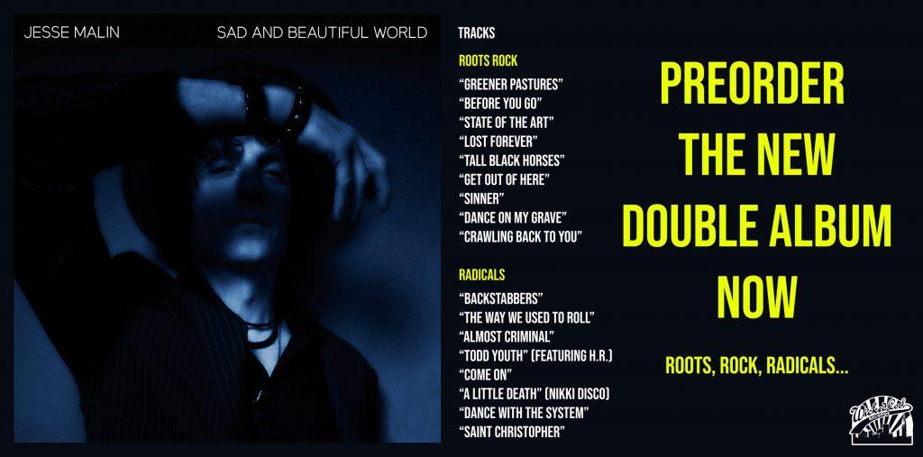"""""""Sad and Beautiful World"""" es el nuevo disco de Jesse Malin que llegará oficialmente el 24 de septiembre."""
