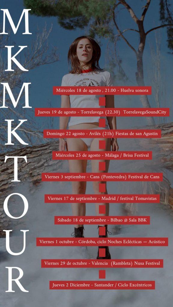 Gira de Maika Makovski presentando el álbum MKMK.